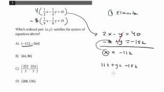 New PSAT Math Concepts: Algebra #1