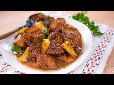 Filipino Pork Adobo W/ Pineapple - Pai's Kitchen | Filipino Recipe