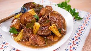 Filipino Adobo w/ Pork & Pineapple - Pai's Kitchen | Filipino Recipe