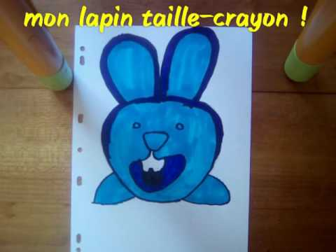 Mon dessin un lapin taille crayon youtube - Dessin un lapin ...