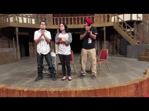 The Globe Theater - Acting Class - 2014 - Christopher Lee Lopez - Megan Christine - Daniel Ramirez