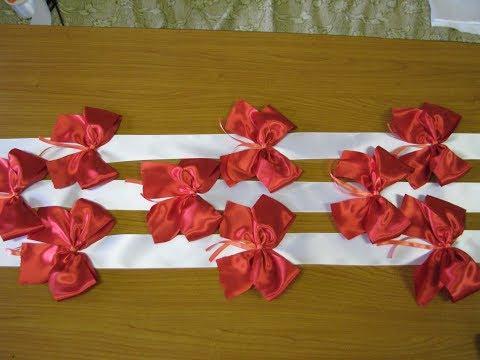 Вопрос: Как сделать свадебную палочку с лентами?