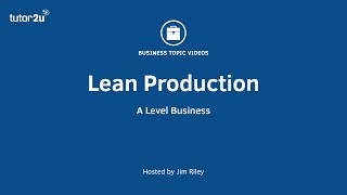 Lean Production (Overview)