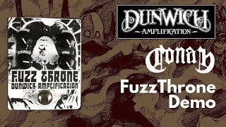 Dunwich Amps FuzzThrone Demo - Conan Tone!