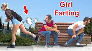 Girl Farting in Public PRANK   Best of Just For Laughs