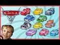 CARS 3 MINI RACERS Diecast Review McQueen Hot Toys Collection Unboxing Ryan's Playroom