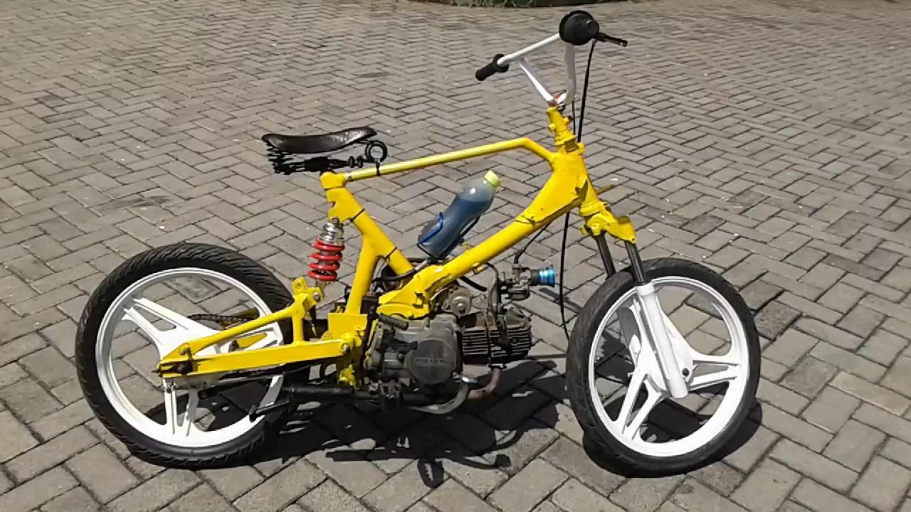 Modif Motor Jadi Sepeda Unik Mobiliobaru