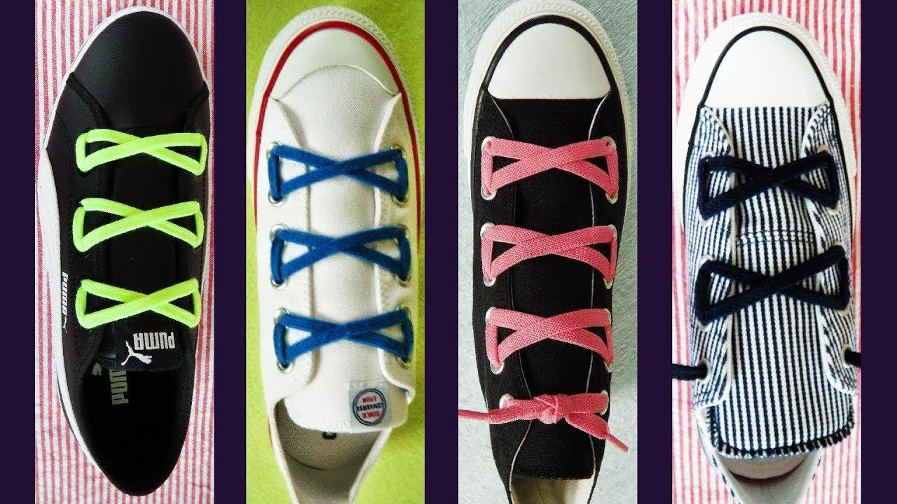 〔靴紐の結び方〕リボンが付いているみたいな靴ひもの通し方 how to tie shoelaces 〔生活に役立つ!〕