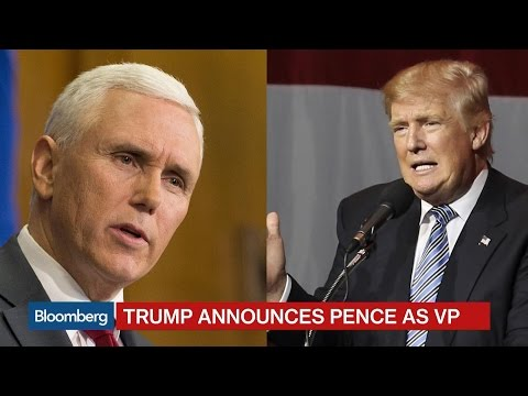 Trump Selects Indiana Governor Mike Pence as VP