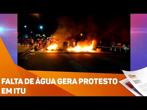 Falta de água gera protesto em Itu - TV SOROCABA/SBT