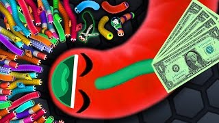 Video Slither.io - $1 SNAKE vs. $1.000.000 SNAKES! // Epic Slitherio Gameplay! (Slitherio Funny Moments) download MP3, 3GP, MP4, WEBM, AVI, FLV Maret 2018
