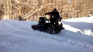 Самодельный минитрактор переломка против снега