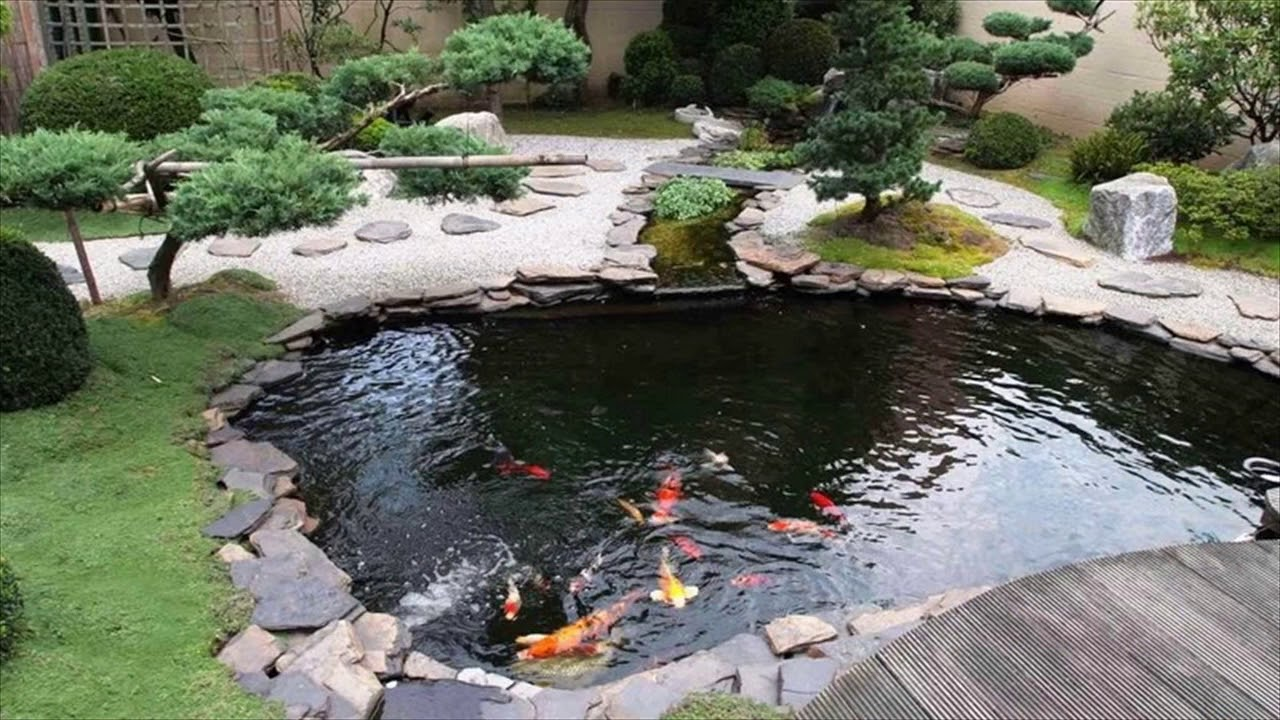 Backyard Koi Pond Waterfall Garden Ideas 2017 - YouTube