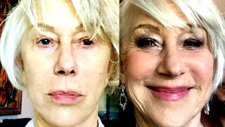 From All Natural to Glam: Helen Mirren Shows Off Stunning Oscars Transformation