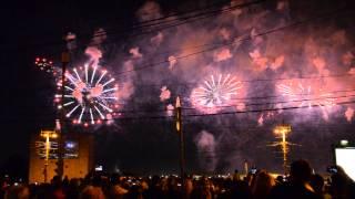Финал фестиваля фейерверков в Москве / Final show of Moscow international firework festival