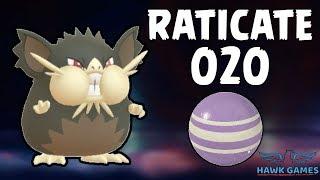 Alolan Raticate evolution - Generation 7 Pokedex 020 - Pokemon GO [No Hack]