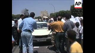 WEST BANK: WOMEN PROTESTORS SCUFFLE WITH PALESTINIAN POLICE