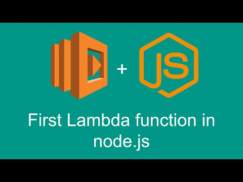 First Lambda function in node.js (Getting started with AWS Lambda, part 2)