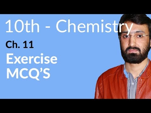 MCQ's 10th Class Chemistry Chapter 11 Organic Chemistry Exercise
