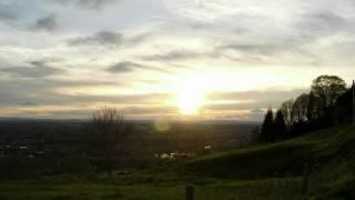 Coucher de soleil sur Vichy et Bellerive sur Allier