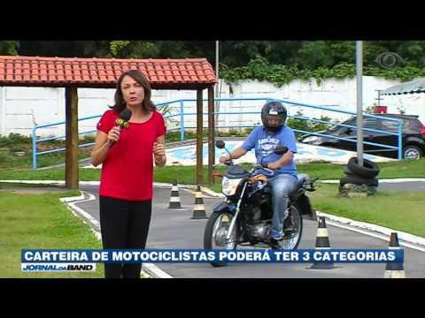 Carteira de motociclistas poderá ter três categorias