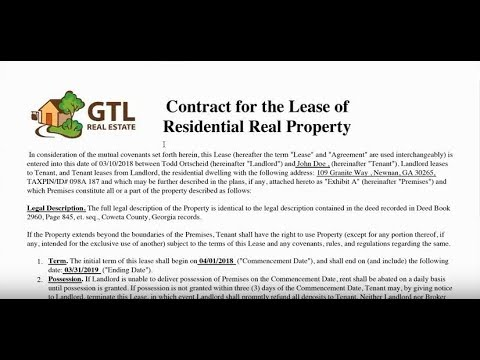 Understanding Our Leasing Agreement by GTL Real Estate, GA and FL Property Management