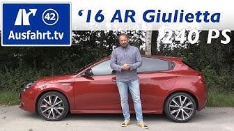 2016 Alfa Romeo Giulietta 1.8 TBi Veloce - Fahrbericht der Probefahrt, Test, Review Ausfahrt.tv