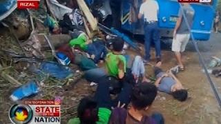 SONA: Field trip, nauwi sa trahedya matapos maaksidente ang isang bus na sinakyan ng mga estudyante