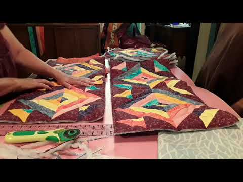 Fish quilt 3 free motion poormans sewing