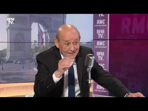 Jean-Yves Le Drian face à Jean-Jacques Bourdin en direct