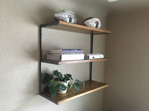 DIY Modern Wall Mount Shelf