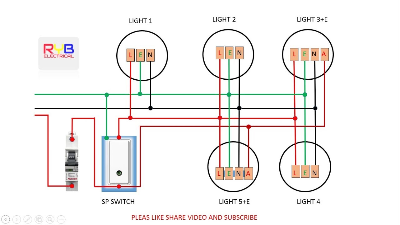emergency light switch wiring diagram!  YouTube