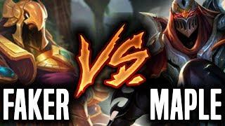 Faker Azir vs Maple Zed! - SKT T1 Faker vs FW Maple - SKT T1 Faker SoloQ Playing Azir Mid! | SKT T1