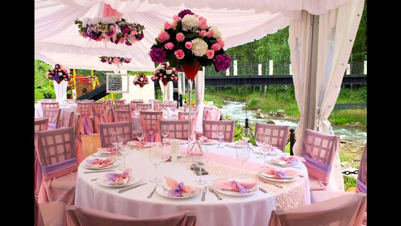 Summer wedding table decorations - YouTube