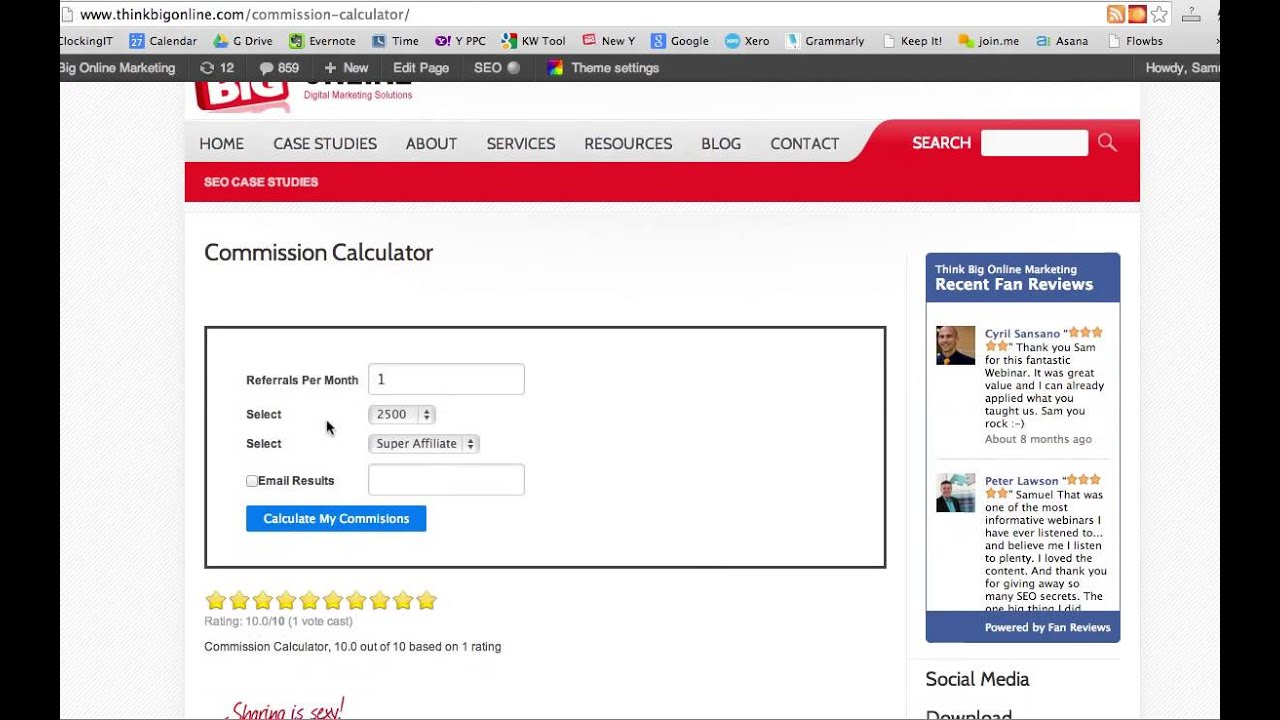 Affiliate Commission Calculator Youtube