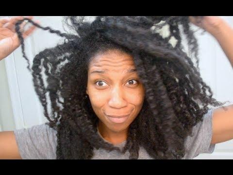 wash curly natural hair