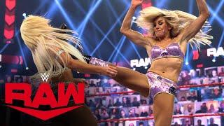 Charlotte Flair, Natalya & Tamina vs. Rhea Ripley, Mandy Rose & Dana Brooke: Raw, June 28, 2021