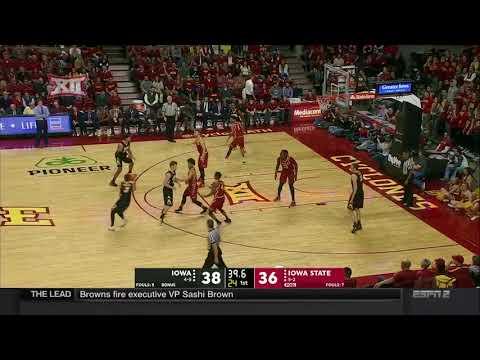 Iowa at Iowa State Men's Basketball Highlights
