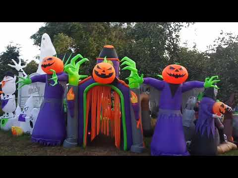 Don Action Jackson - This House Has 218 Halloween Inflatables In Its Display