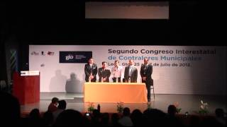 Clausura del Segundo Congreso Interestatal de Contralores Municipales