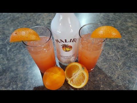 Summer Cocktail - Malibu Summer Rose