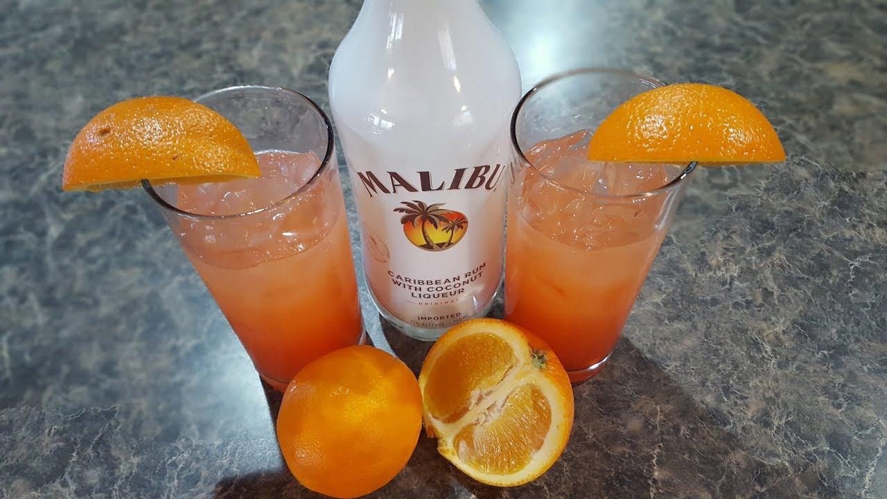 Summer Cocktail Malibu Summer Rose Youtube