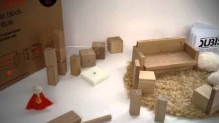 Qubis Magnetic Oak Toy Furniture - Living Room Set - Amy Whitworth Design