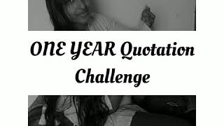 One Year Quotation challenge |…