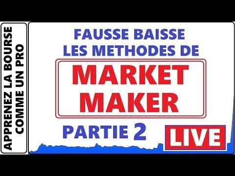 MÉTHODE DE MARKET MAKER LES FAUSSES BAISSES PARTIE 2 EXEMPLE LIVE ET 2600$ CAD DE PROFIT