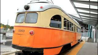 MBTA Mattapan Trolley (LRT) Train at Ashmont Station [PCC #3263]