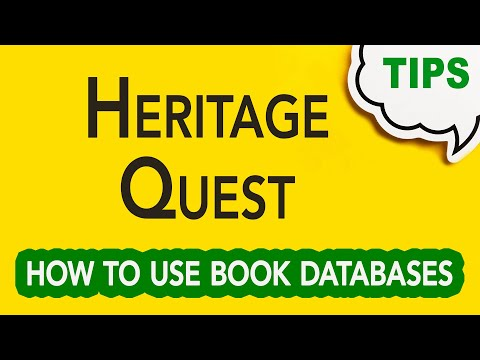 GC-059   Heritage Quest: How to Use Book Databases   Genealogy Clips