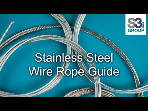 Wire Types | Stainless Steel Wire Rope Demonstration Of Different Types Youtube