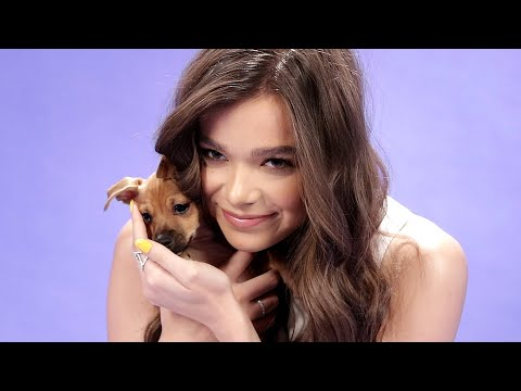 Hailee Steinfeld Plays With Puppies While Answering Fan Questions