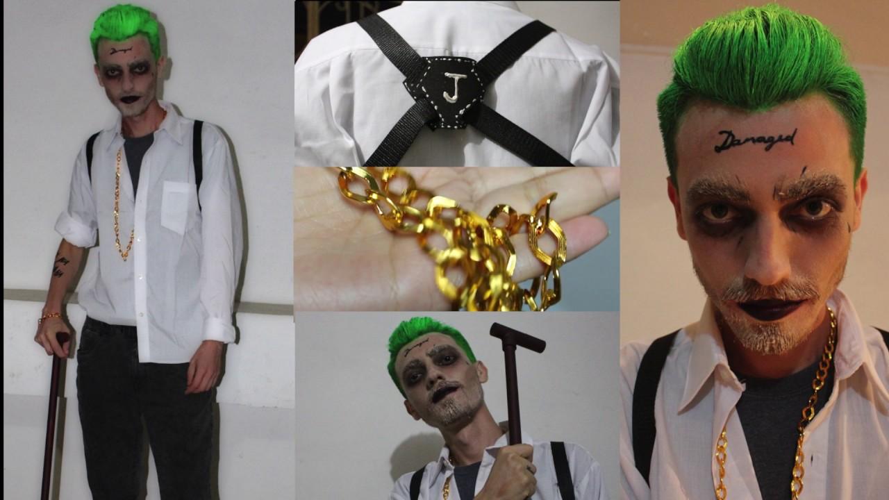 Disfraz facil y rapido del joker halloween youtube - Disfraz joker casero ...